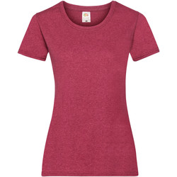 Textil Mulher T-Shirt mangas curtas Fruit Of The Loom 61372 Vintage Heather Red
