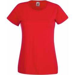 Textil Mulher T-Shirt mangas curtas Fruit Of The Loom 61372 Vermelho