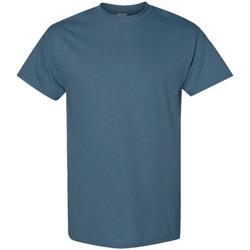 Textil Homem T-Shirt mangas curtas Gildan 5000 Azul Índigo