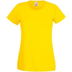 Textil Mulher T-Shirt mangas curtas Fruit Of The Loom 61372 Amarelo