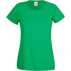 Textil Mulher T-Shirt mangas curtas Fruit Of The Loom 61372 Kelly Green