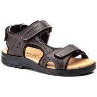 Sapatos Homem Sandálias Morxiva Shoes Sandalia de hombre de piel by Pepe Agullo Marron