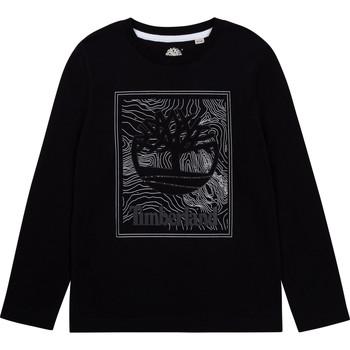 Textil Rapaz T-shirt mangas compridas Timberland BAGIRI Preto