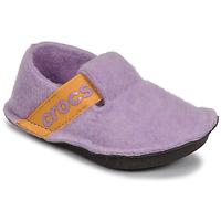 Sapatos Rapariga Chinelos Crocs CLASSIC SLIPPER K Violeta / Amarelo