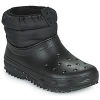 Sapatos Mulher Botas de neve Crocs CLASSIC NEO PUFF SHORTY BOOT W Preto
