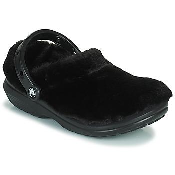 Sapatos Mulher Tamancos Crocs CLASSIC FUR SURE Preto