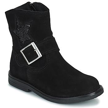 Sapatos Rapariga Botas baixas Citrouille et Compagnie POUDRE Preto