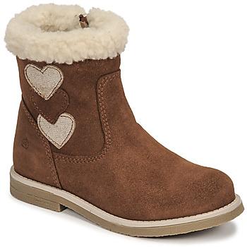 Sapatos Rapariga Botas Citrouille et Compagnie PARAVA Camel