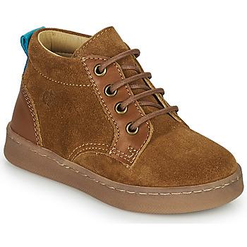 Sapatos Rapaz Sapatilhas de cano-alto Citrouille et Compagnie PACELLE Camel