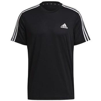 Textil Homem T-Shirt mangas curtas adidas Originals Aeroready Designed TO Move Sport 3STRIPES Tee Preto