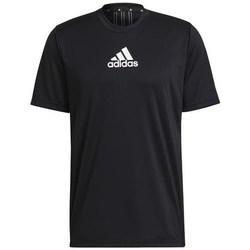Textil Homem T-Shirt mangas curtas adidas Originals Primeblue Designed TO Move Sport 3STRIPES Tee Preto