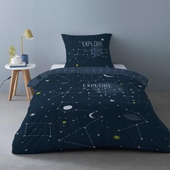 Casa Conjunto de roupa de cama Mylittleplace SCIENCE KID Azul / Marinho