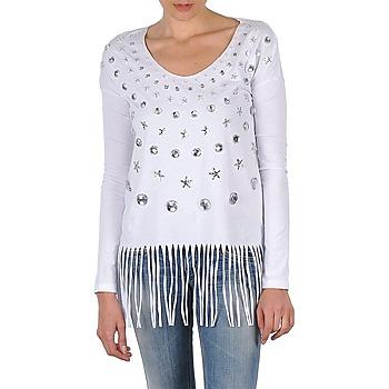 Textil Mulher T-shirt mangas compridas Manoush TUNIQUE LIANE Branco