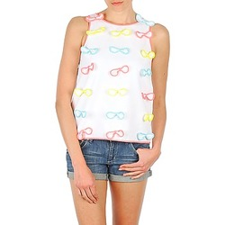Textil Mulher Tops sem mangas Manoush TOP NOEUD NOEUD Branco