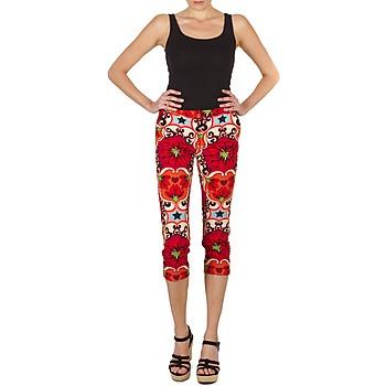 Textil Mulher Calças curtas Manoush PANTALON POPPY Vermelho