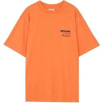 Textil Homem T-Shirt mangas curtas Sixth June T-shirt  barcode orange