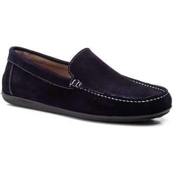 Sapatos Homem Mocassins Iberico Shoes Mocasin de hombre de piel by Comodo Sport Bleu