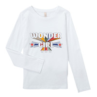 Textil Rapariga T-shirt mangas compridas Only KONTINNA Branco