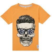 Textil Rapaz T-Shirt mangas curtas Name it NKMKSOYTAN SS TOP Amarelo
