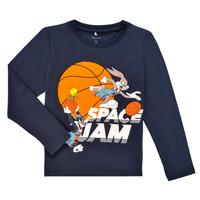 Textil Rapaz T-shirt mangas compridas Name it NMMSPACEJAM ARNE LS TOP Marinho