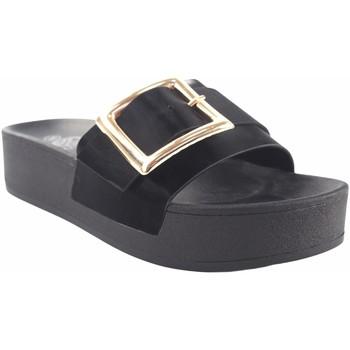 Sapatos Mulher Chinelos Kelara Senhora da praia  k12029 preto Preto