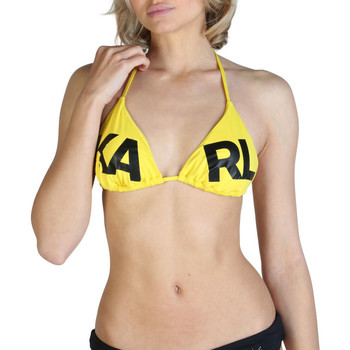 Textil Mulher Biquínis separados Karl Lagerfeld - kl21wtp05 Amarelo