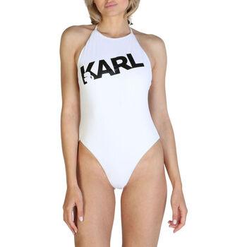 Textil Mulher Fatos de banho Karl Lagerfeld - kl21wop03 Branco