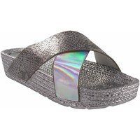 Sapatos Mulher Alpargatas Kelara Senhora da praia  k12033 prata Prata