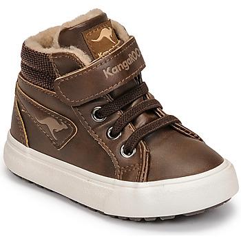 Sapatos Rapaz Sapatilhas de cano-alto Kangaroos KAVU III Castanho