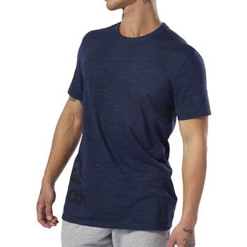 Textil Homem T-Shirt mangas curtas Reebok Sport  Azul