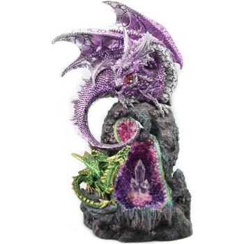 Casa Estatuetas Signes Grimalt Dragão Com Led Lila