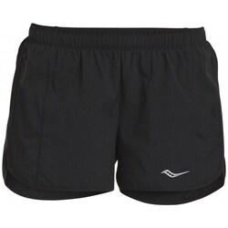Textil Mulher Shorts / Bermudas Saucony SAW800086BK Preto