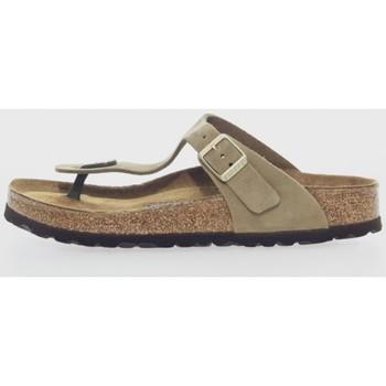 Sapatos Mulher Chinelos Birkenstock GIZEH BS Marrón