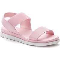 Sapatos Mulher Sandálias Betsy Pink Casual Flat Sandals Pink