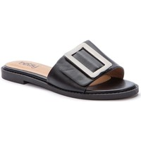 Sapatos Mulher Chinelos Betsy Black Casual Low Heel Slippers Black