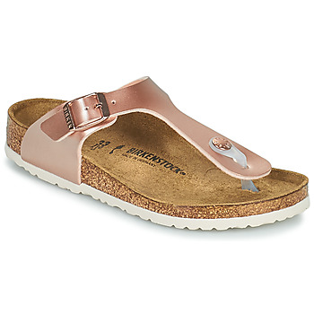 Sapatos Rapariga Chinelos Birkenstock GIZEH Rosa / Ouro