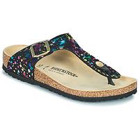Sapatos Rapariga Chinelos Birkenstock GIZEH Preto / Multicolor