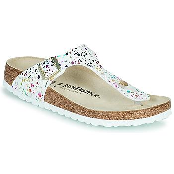 Sapatos Rapariga Chinelos Birkenstock GIZEH Branco / Multicolor