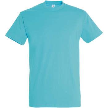 Textil Mulher T-Shirt mangas curtas Sols IMPERIAL camiseta color Azul Atolon Azul