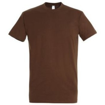 Textil Mulher T-Shirt mangas curtas Sols IMPERIAL camiseta color Tierra Beige