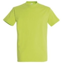 Textil Mulher T-Shirt mangas curtas Sols IMPERIAL camiseta color Verde Manzana Verde