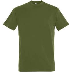 Textil Mulher T-Shirt mangas curtas Sols IMPERIAL camiseta color Caqui Oscuro Kaki