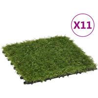 Casa Plantas e Flores Artificiais  VidaXL Relva artificial Verde