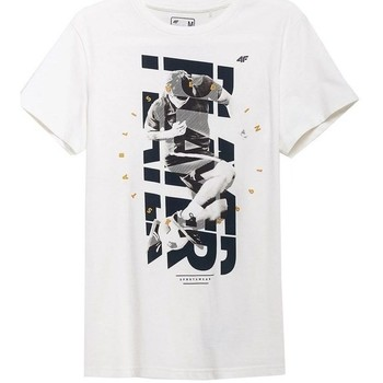 Textil Homem T-Shirt mangas curtas 4F TSM011 Branco