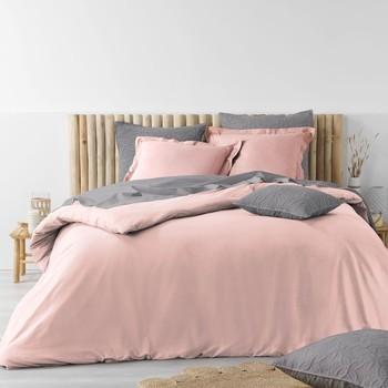 Casa Conjunto de roupa de cama Douceur d intérieur STONALIA Rosa