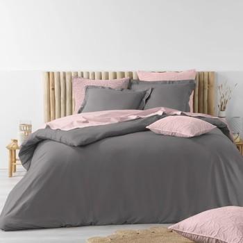 Casa Conjunto de roupa de cama Douceur d intérieur STONALIA Antracite