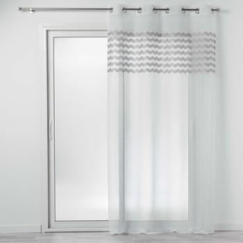 Casa Cortinas Douceur d intérieur SANDINA Branco / Cinza