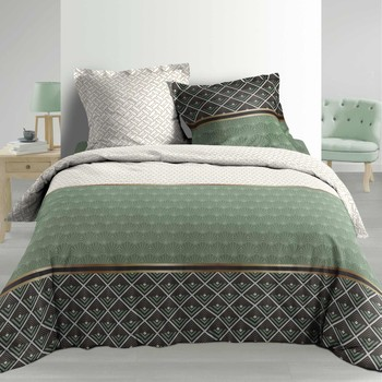 Casa Conjunto de roupa de cama Douceur d intérieur BELOR Verde