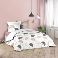 Casa Conjunto de roupa de cama Douceur d intérieur BILOBA Branco