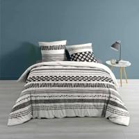 Casa Conjunto de roupa de cama Douceur d intérieur BLACKY Branco